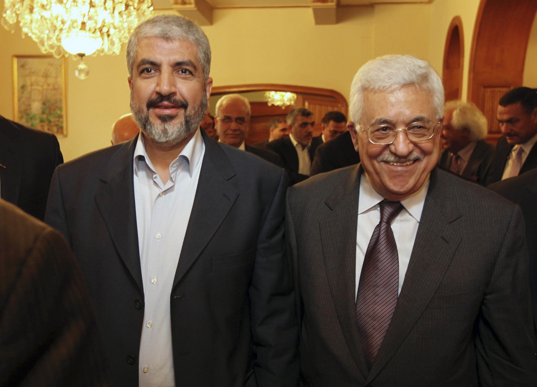 חאלד משעל ואבו מאזן צילום: חמאס