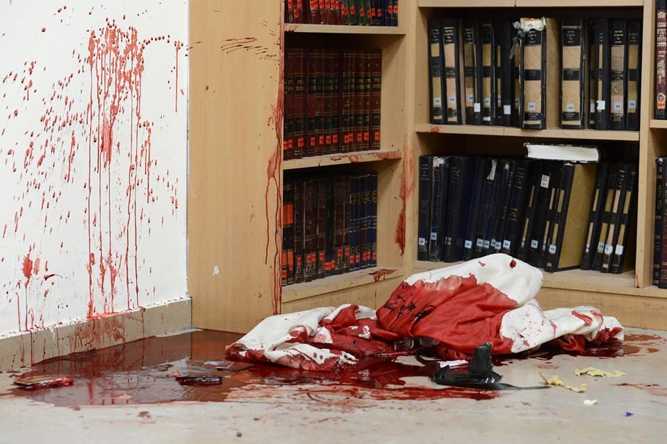 """זירת הפיגוע הבוקר. צילום: קובי גדעון, לע""""מ"""