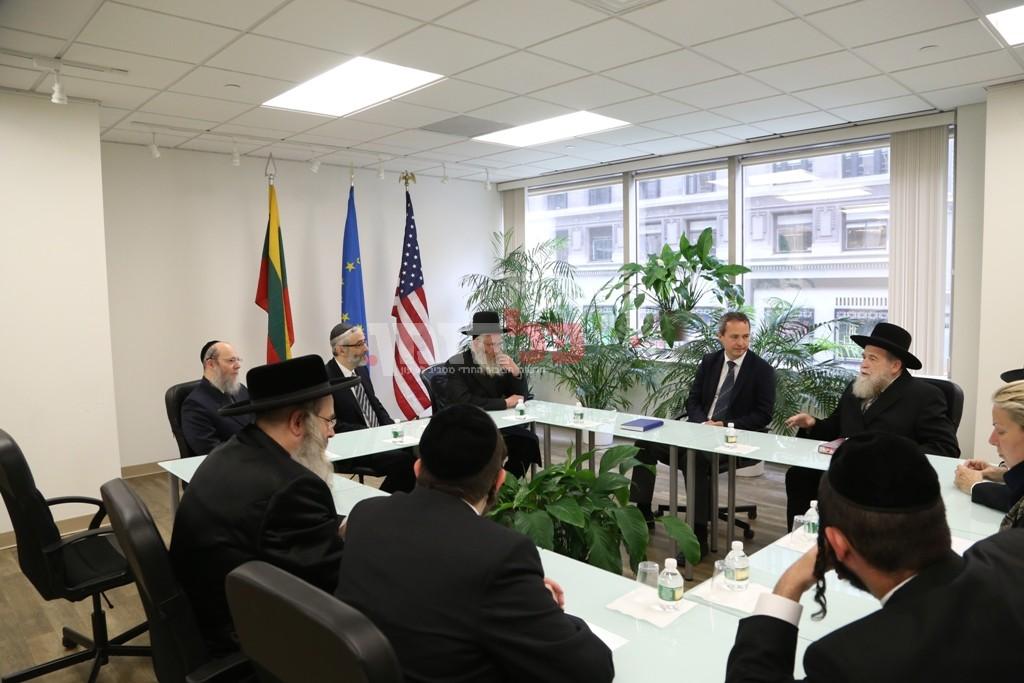 אדמת קודש אצל שגריר ליטא בארצות הברית19