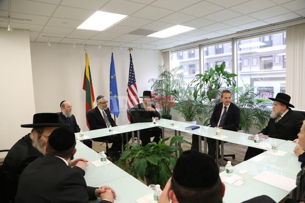 אדמת קודש אצל שגריר ליטא בארצות הברית20