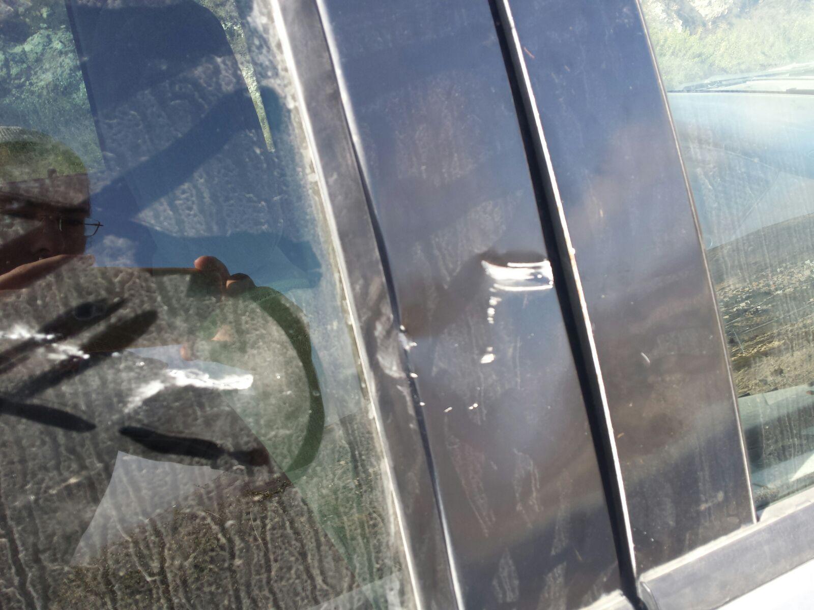 הרכב שנפגע. צילום: חוננו