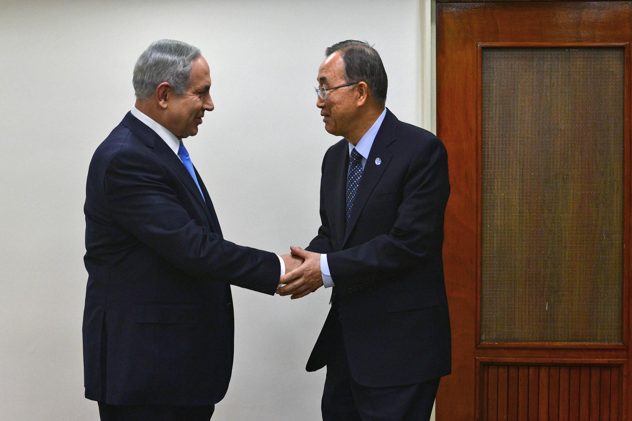 ראש הממשלה בנימין נתניהו נפגש עם מזכל האום באן קי מון צילום קובי גדעון לעמ (1)