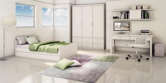 רהיטי דורון- ארון בר 2650 שח ומערכת עבודה בר 1250 שח בצבע לבן החדש. צילום יחצ רהיטי דורון (Custom)