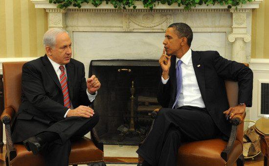 ברק אובמה בנימין נתניהו בארהב צילום משה מילנר לעמ (4)