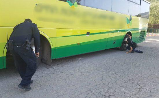 אוטובוס הורד מהכביש