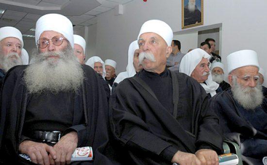 אנשי דת דרוזים | צילום: משה מילנר - לעמ