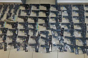 צפו: 132 אקדחי פורים 'מסוכנים' – נתפסו