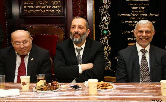 אריה דרעי ואמנון כהן. צילום: יעקב כהן