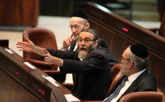 יעקב אשר גפני ומקלב. צילום: הכנסת