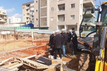 ביקורת פתע: שלושה אתרי בניה נסגרו