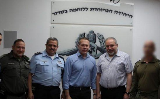 ביקור ליברמן ארדן ואלשיך ביממ צילום דוברות המשטרה (3)