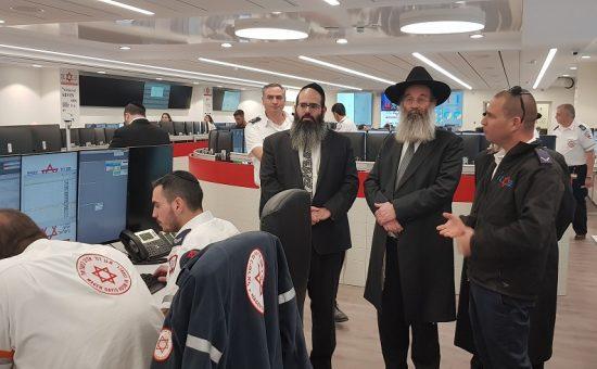 ביקור ראש עיריית הרב בני ברק הרב אברהם רובינשטיין בממלמ - צילום דוברות מדא 24.2.19 (2)