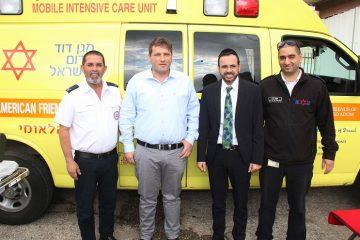 """ראש העיר ביקר בתחנת מד""""א והתרשם"""
