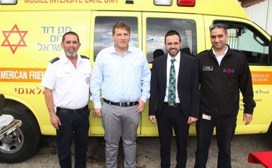 ביקור ראש עירית פתח תקוה רמי גרינברג בתחנת מדא בפתח תקווה - צילום דוברות מדא 21.2.19 (4)