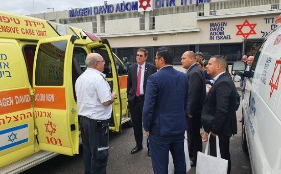 בכירי מערכת הבריאות בקוסטה ריקה ביקרו במגן דוד אדום - צילום דוברות מדא (2)