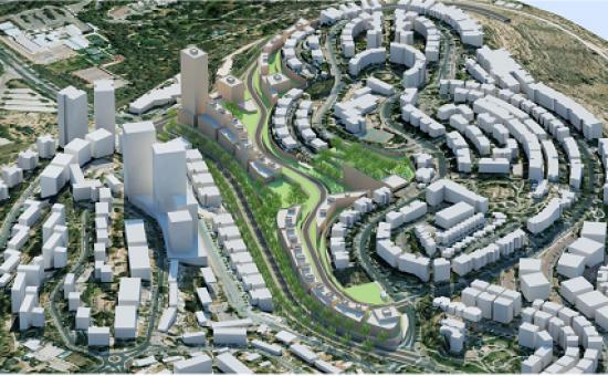 """הדמיית השכונה החדשה במשואה, קולקר אפשטיין אדריכלים בע""""מ"""