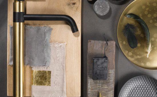 ברז שחור זהב של חברת חמת | צילום: מלנית גל וסטיילינג מור עזוז דרור