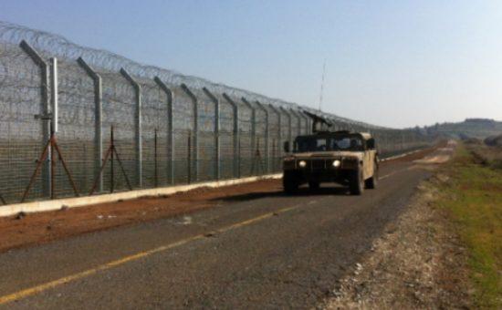 ג'יפ בגבול סוריה ישראל. צילום: דובר צהל