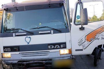 175 אלף שקלים: דלת המשאית השתחררה