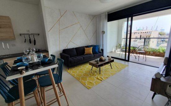 דירה לדוגמא בבניין להשכרה בפרויקט הרובע של חברת גולדן ארט בחיפה צילום גולדן ארט