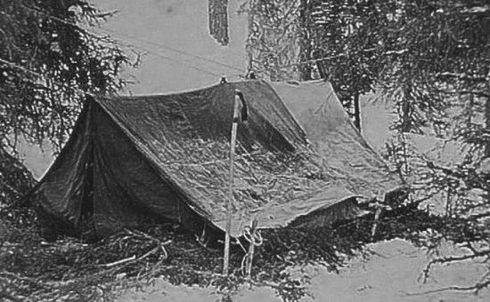 האוהל של המטיילים בשלמותו