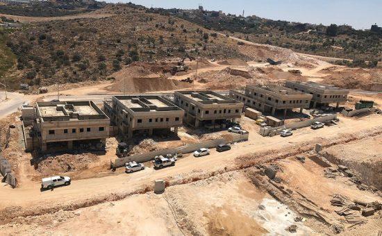 הבניה בפרויקט משכנות אלקנה של חברת משהב נמצאת בעיצומה צילום משהב