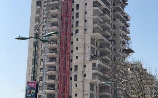 הבניה בפרויקט של יורו ישראל באשקלון אפריל 2019 צילום יורו ישראל