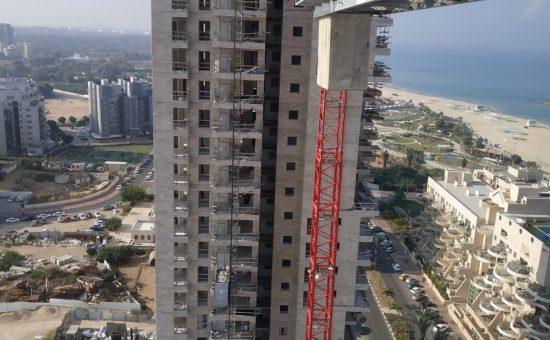 הבניה בפרויקט של יורו ישראל באשקלון דצמבר 2019 צילום יורו ישראל