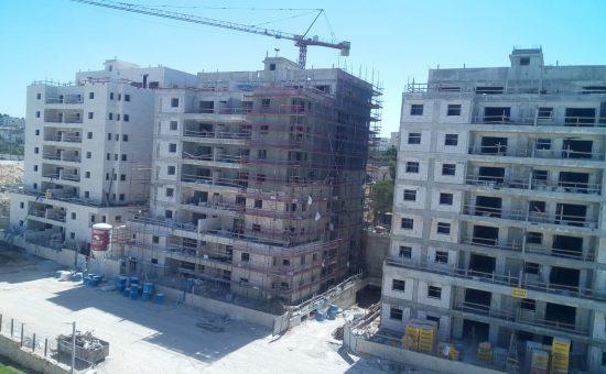 הבניה בפרויקט של יורו ישראל בפסגת זאב מתקדמת מהר צילום יורו ישראל