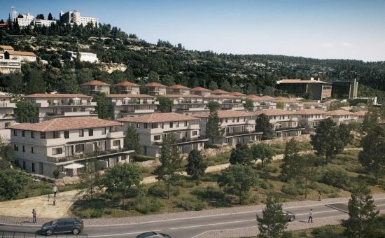 הבתים החדשים בקיבוץ קריית ענבים - קרדיט DVISION