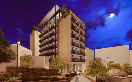 הדמיה למלון בן סירא - קרדיט לפייגין אדריכלים בעמ
