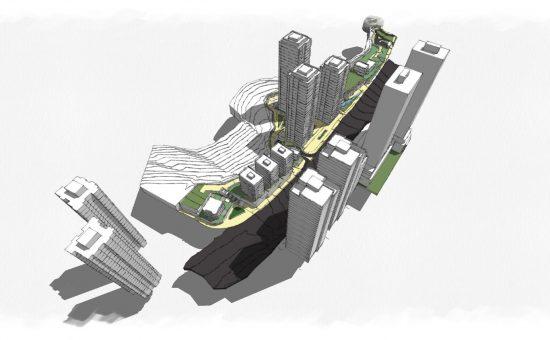 הדמיה לתכנית בניה במתחם אמת המים בדרך חברון - קרדיט למשרד אדריכלים ארי כהן