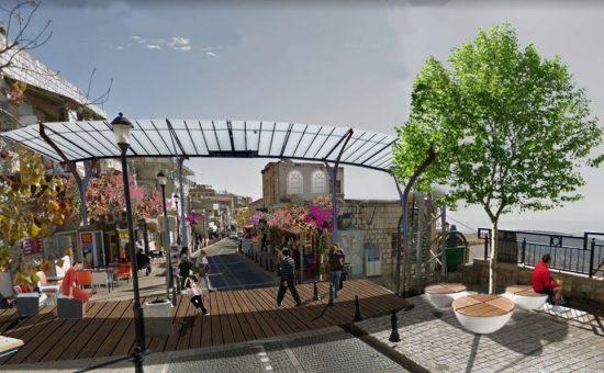 הדמיה מתוכנית רחוב ירושליים צפת