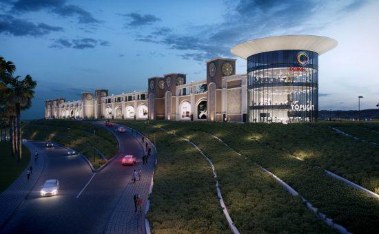 הדמיית דיזיין סיטי מישור אדומים של קס גרופ, אדריכל: שלמה גרטנר