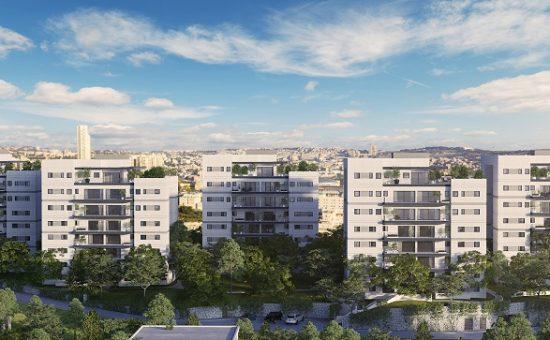 הדמיית הפרויקט בקרית יובל בירושלים של חברת צברים - -Viewpoint- הדמייה (2)