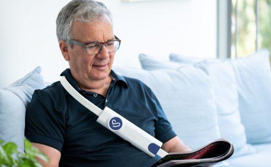 החגורה שמעבירה את הנתונים מהלב לרופא | צילום: וקטוריוס טכנולוגיות רפואיות