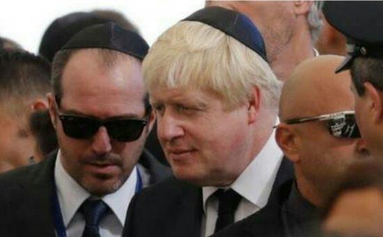 הכיפה של בוריס ג'ונסון, שר החוץ הבריטי