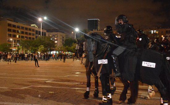 הפגנת האתיופים בתל אביב. צילום: משטרת ישראל