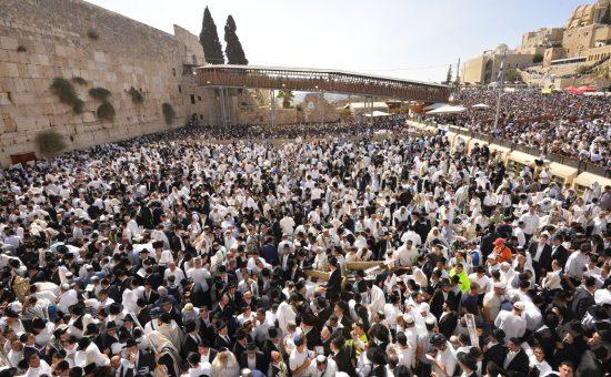 הקבלת פני הרבנים הראשיים לישראל בכותל המערבי (6)