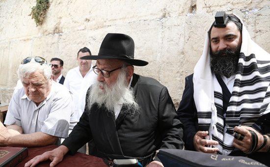 הרב גרונר בכותל (1)