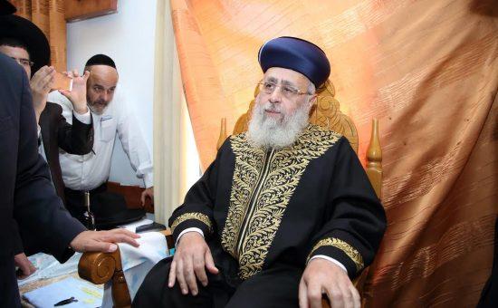 הרב יצחק יוסף בברית צילום קובי כץ חדשות 24 (4)