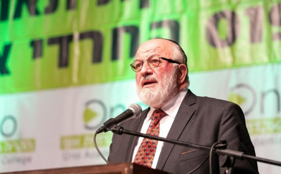 הרב פוגל - יושב ראש הקמפוסים החרדיים