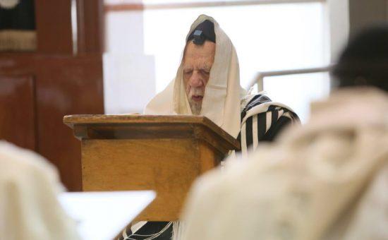 הרב שלום כהן בתפילה (צילום אלי קובין)