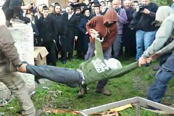 'מצג העינויים' הגיע לכיכר השבת ● צפו בוידאו
