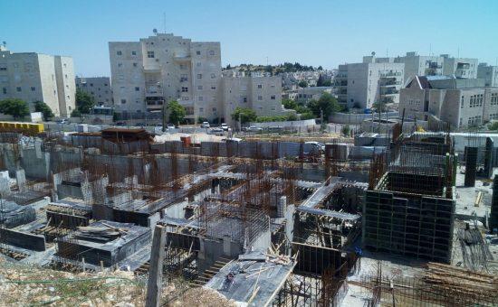 התקדמות בניה בפרויקט של יורו ישראל בפסגת זאב צילום יורו ישראל