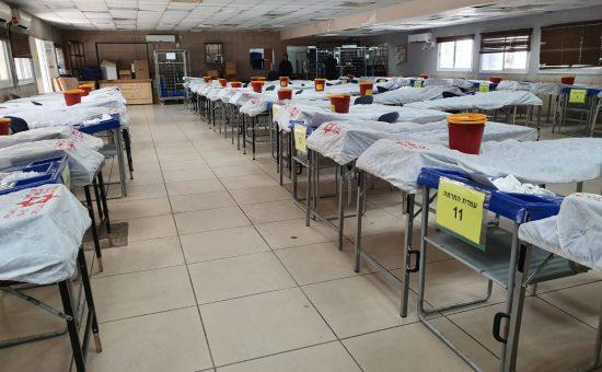 התרמת דם של מדא בשיתוף החטיבה המרחבית שומרון בצהל - צילום דוברות מדא (1)