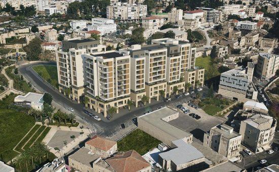 ואדי סאליב בחיפה עם הדמייה פרוייקט הרובע של חברת גולדן ארט קרדיט הדמייה 3divition