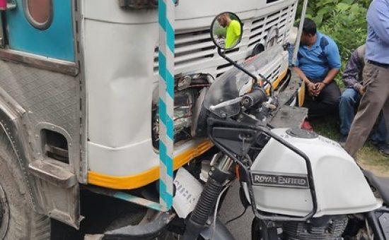 זירת התאונה בהודו