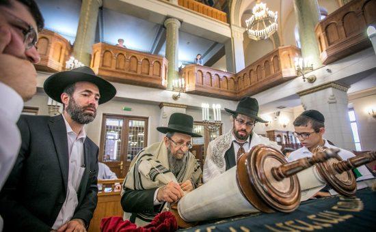 רבי שמואל קמינצקי בביקורו במוסקבה