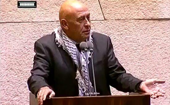 """ח""""כ באסל גאטס. צילום: ערוץ הכנסת"""